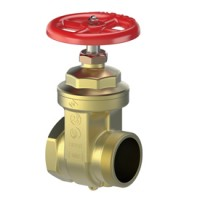 Giacomini Brass Fire Hose Gate Valve with Cap & Chain, Fig. A53, UL/FM
