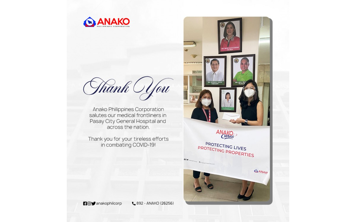 ANAKO PHILIPPINES CORPORATION SALUTES OUR MEDICAL FRONTLINERS