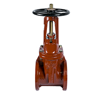 Kennedy OS&Y Gate Valve, Fig.8068A, 200 PSI, Flanged Type, Cast Iron Body